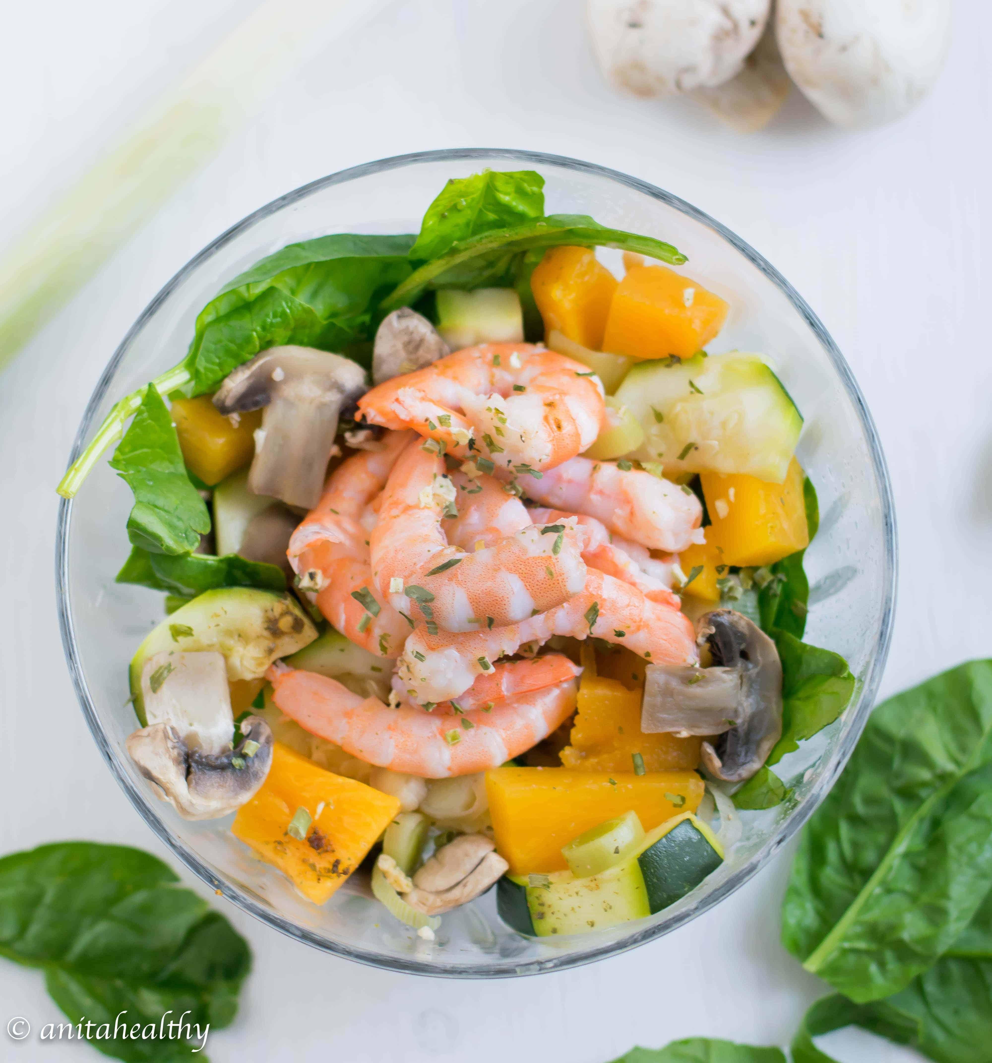 Salada de camarão   Anita Healthy