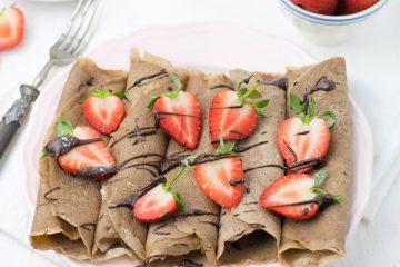Crepes de chocolate sem glúten | Anita Healthy