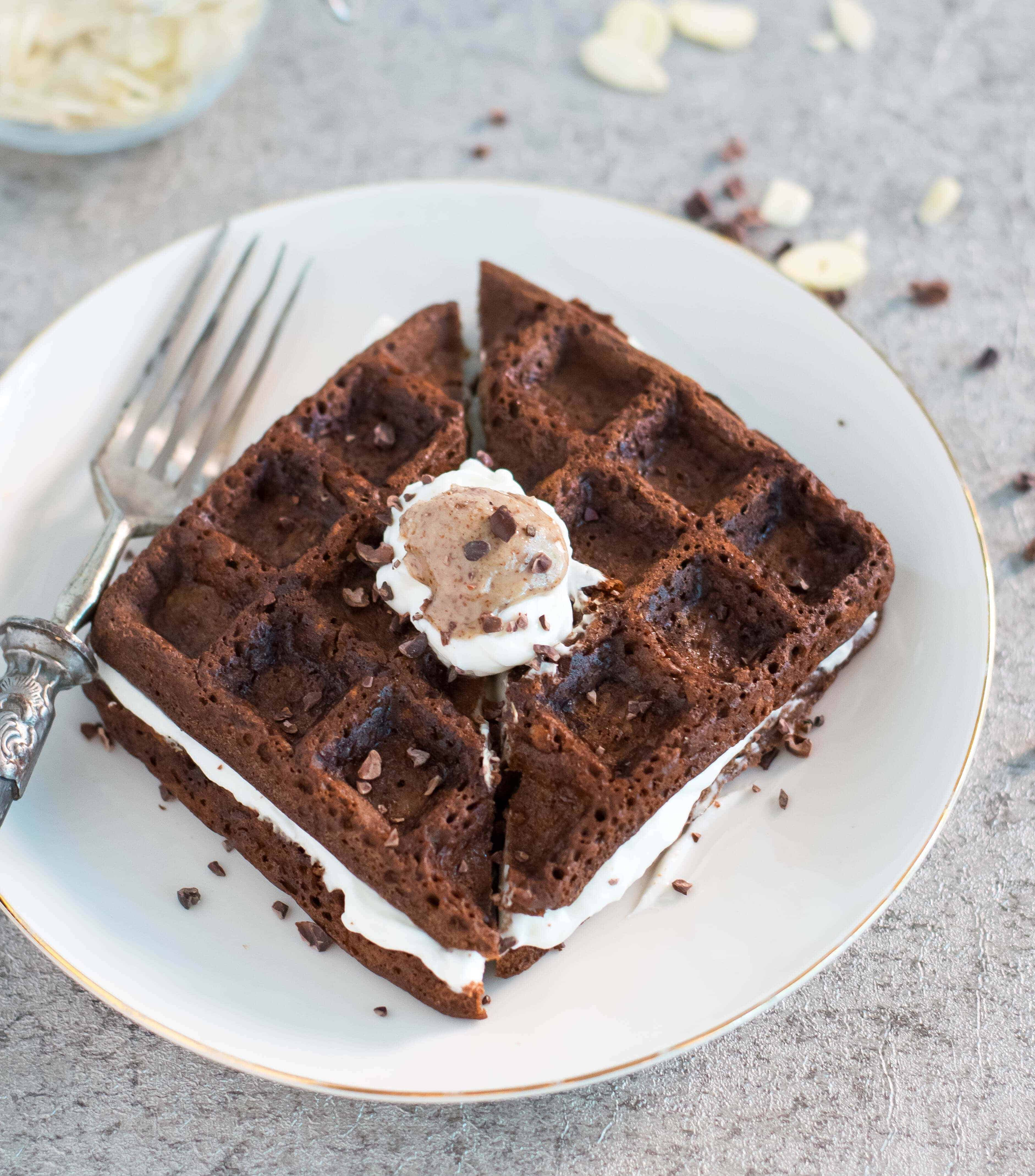 Cocoa Waffles with Zucchini | Anita Healthy