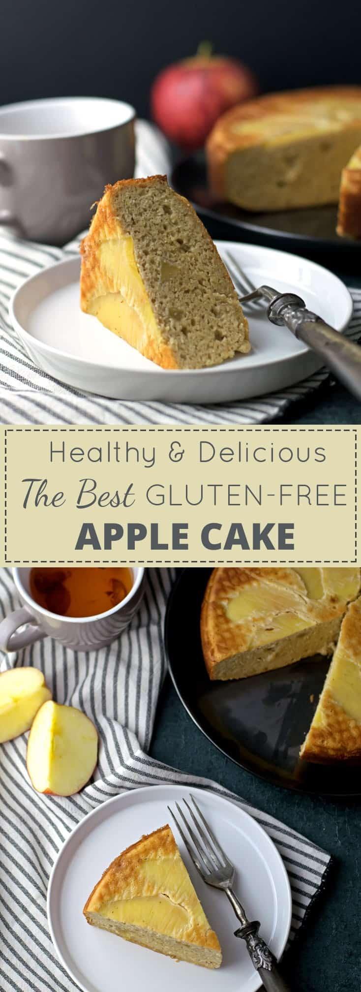 Healthy Almond Apple Cake {Gluten-Free}