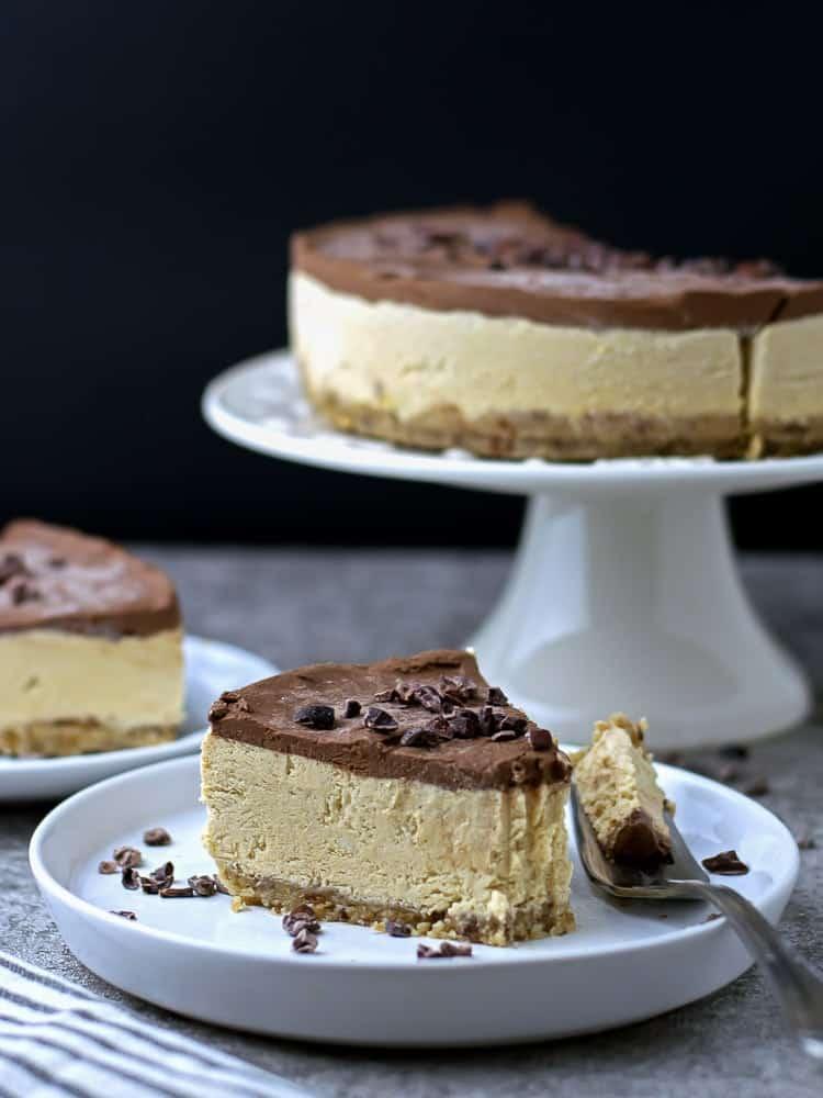 Paleo Pumpkin chocolate Cheesecake