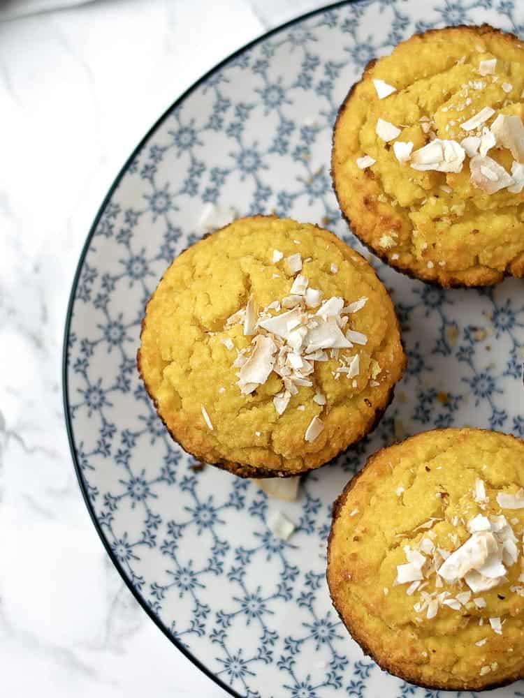 Muffins de Laranja e Côco
