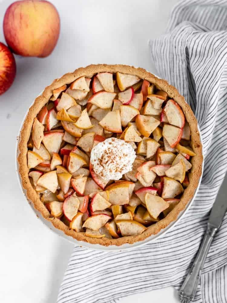 Tarte de maçã vegan
