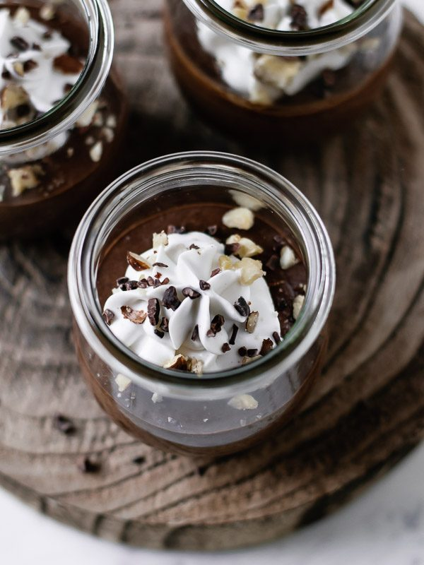 Mousse de chocolate saudavel