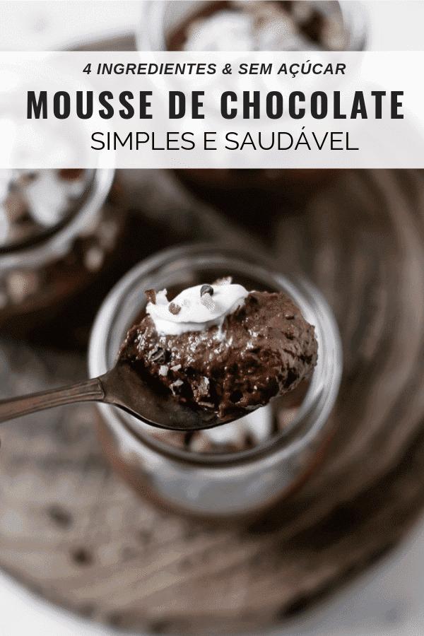 Mousse de chocolate simples e saudável