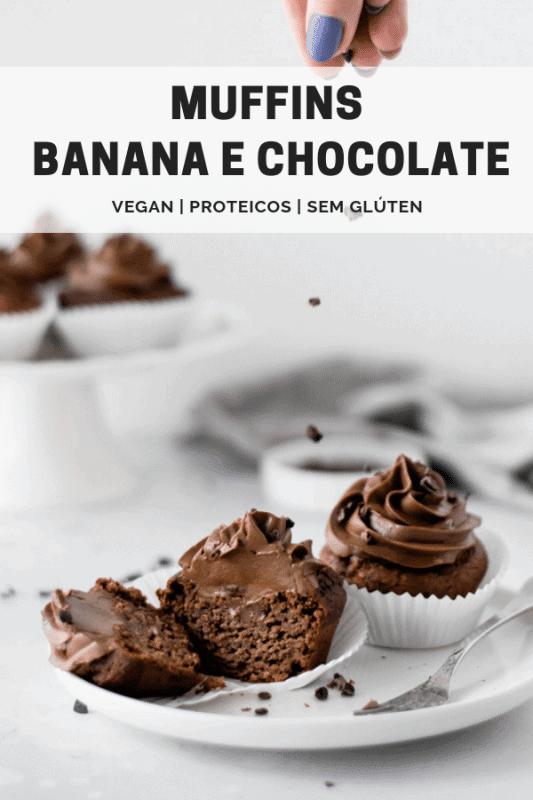 Muffins de Banana e Chocolate Saudáveis