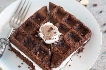 Waffles de cacau com courgette | Anita Healthy