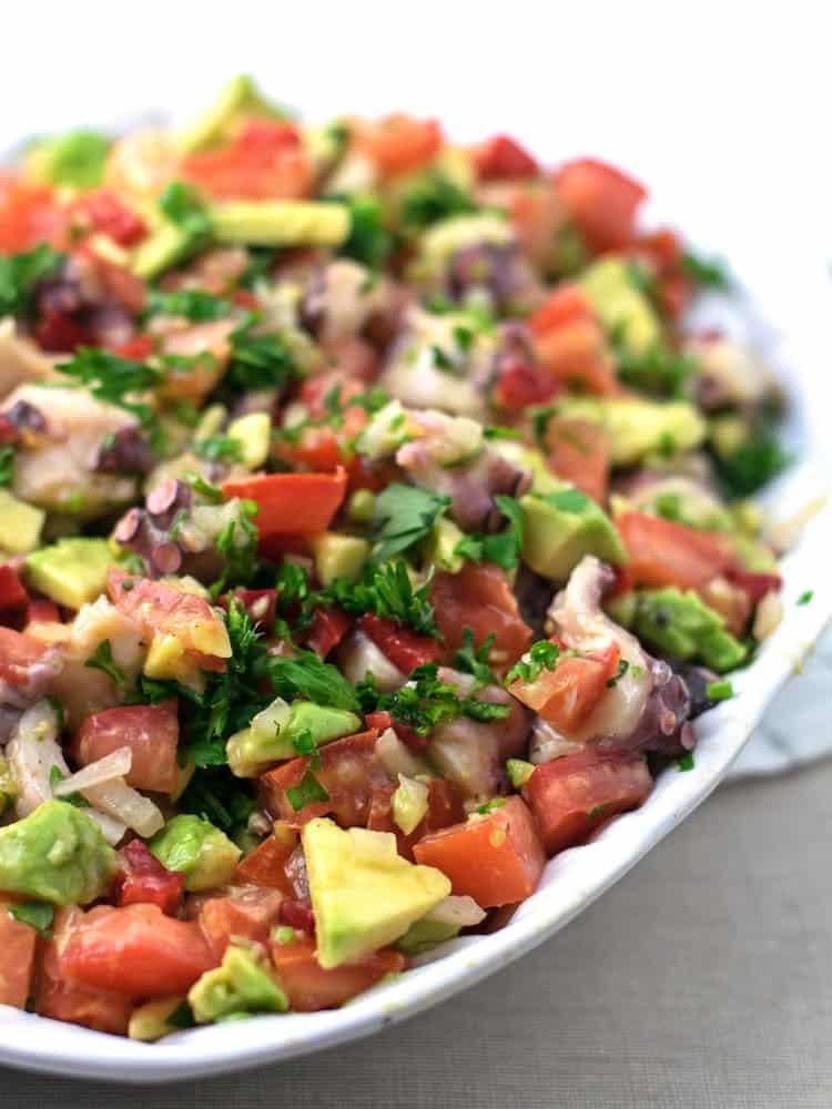 Salada de Polvo e Abacate   Anita Healthy
