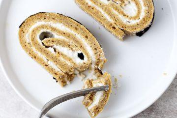 Torta de abóbora com recheio de côco