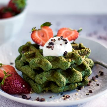 Waffles proteicas verdes