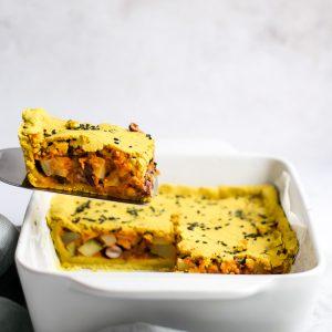 Torta vegan de grão com chilli