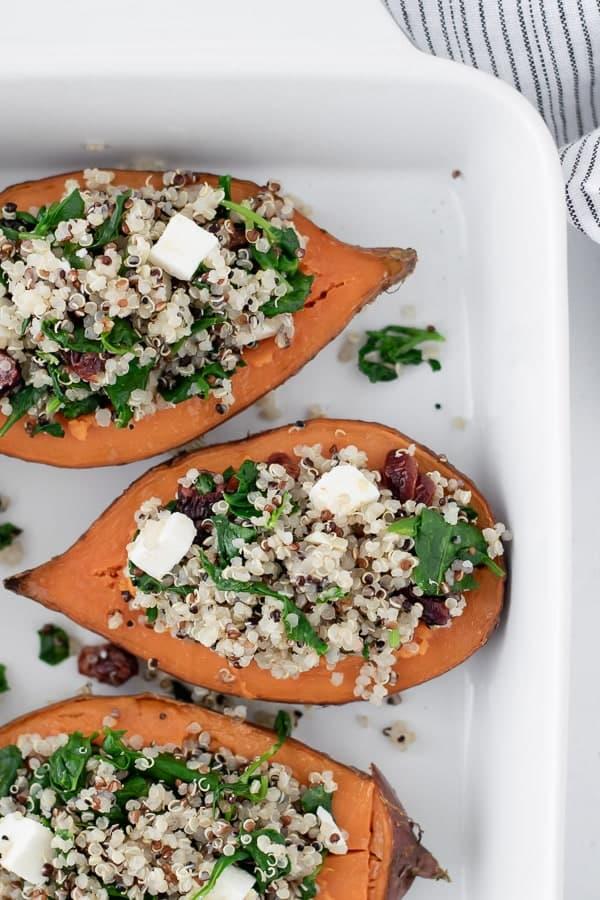 Batata-doce Recheada com Quinoa