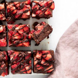 Brownies de chocolate saudaveis