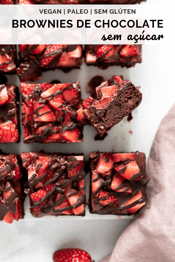 Brownies de chocolate Saudáveis, Vegan e sem açúcar