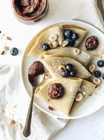 Crepes de Aveia com Nutella Vegan