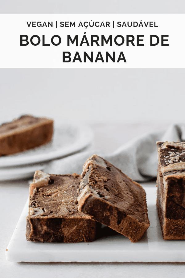 Bolo mármore de banana vegan