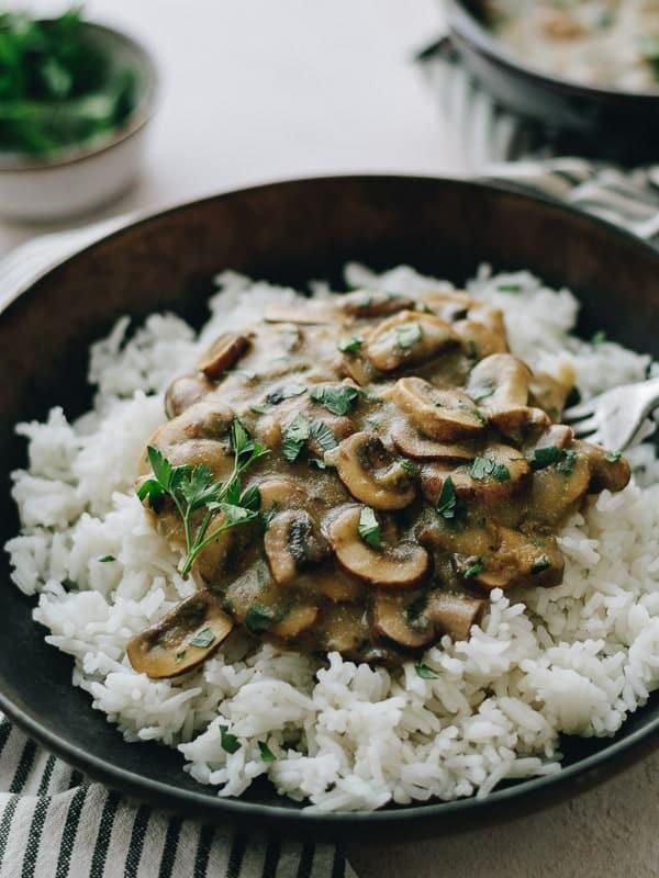 Strogonoff de Cogumelos Vegan