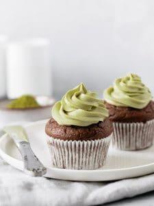 Muffins de Chocolate com matcha