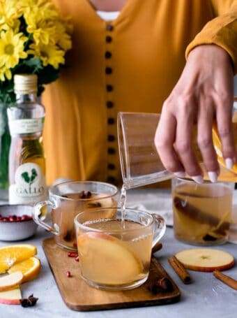 Bebida de outono antioxidante