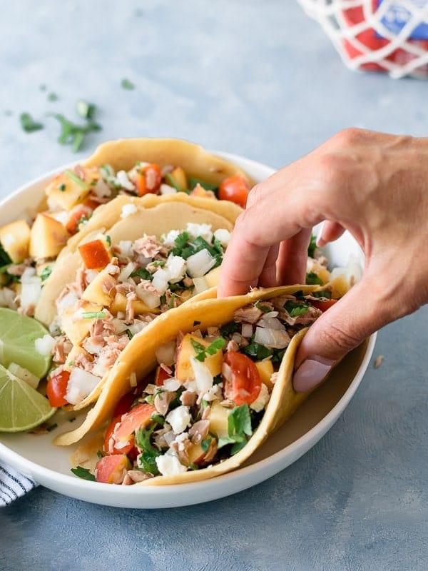 Tacos caseiros de Atum
