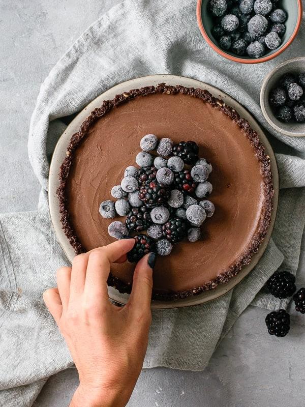 Tarte de chocolate saudável-6