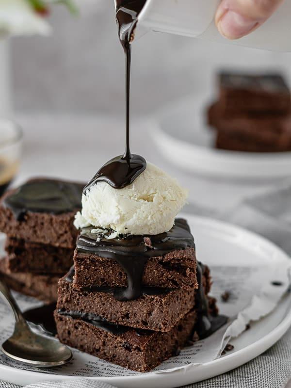 Brownies saudáveis de aveia