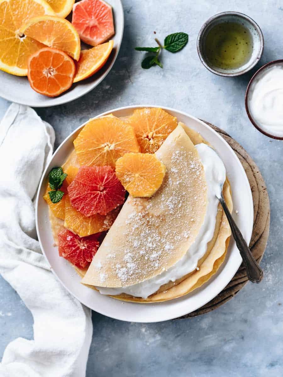 Crepes de côco e laranja-2