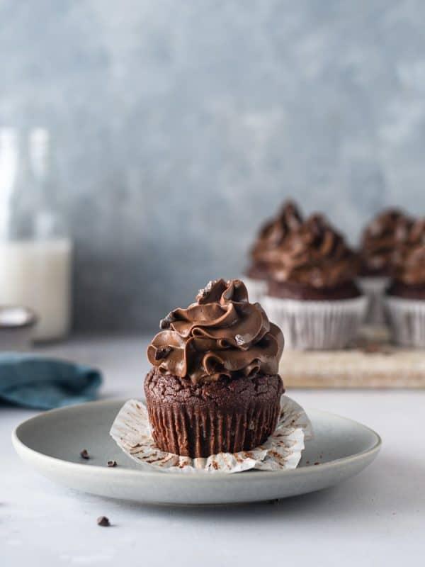 Muffins de Chocolate com cobertura