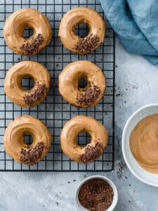 Donuts caseiros de côco sem açúcar