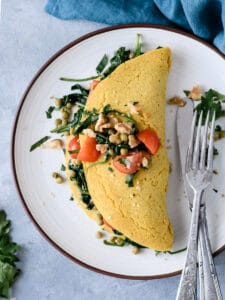 Omelete grão-de-bico