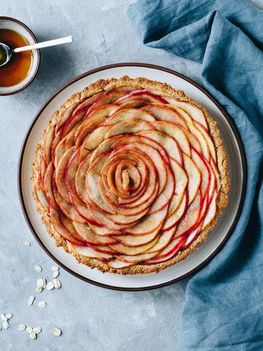 Tarte de maçã saudável