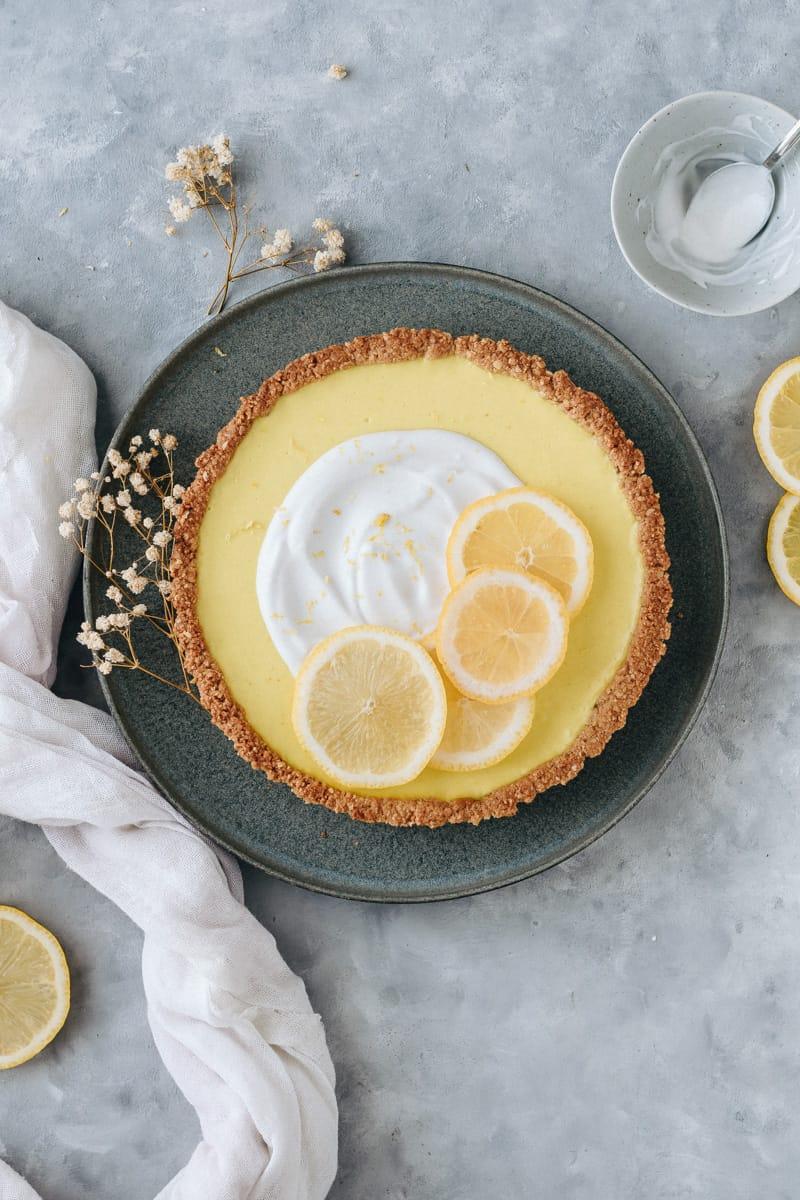 Tarte de limão vegan