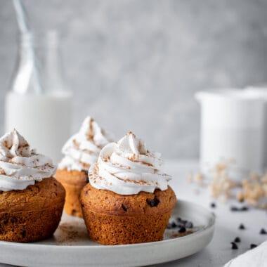 Muffins Saudáveis de abóbora e chocolate