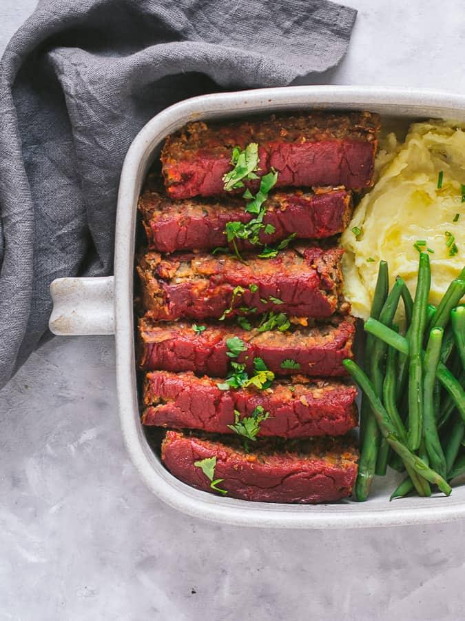 Rolo de lentilhas vegetariano