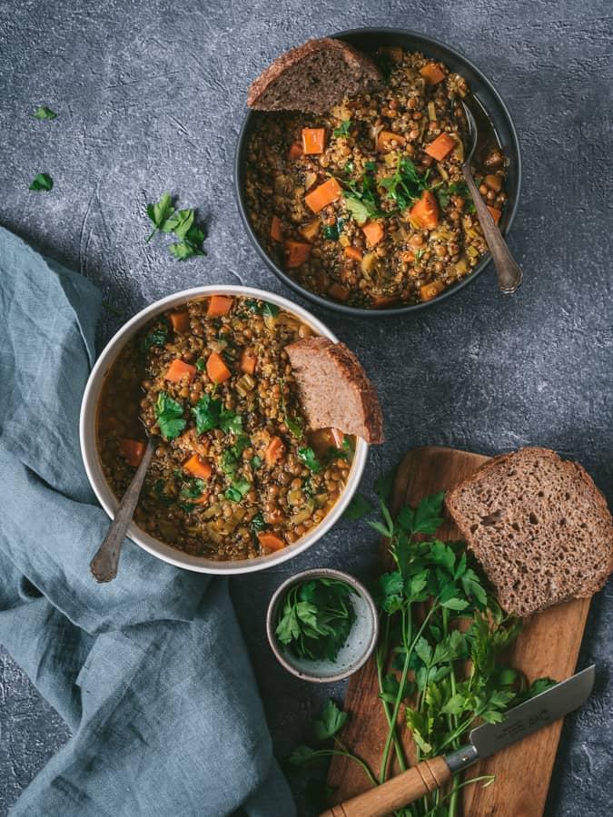 Como fazer sopa de lentilhas